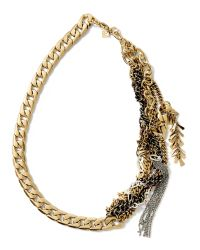Banana Republic | Metallic Mixed-metal Chain Necklace | Lyst