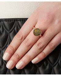 Monica Vinader | Metallic Rose Gold-plated Labradorite Medina Facet Ring | Lyst