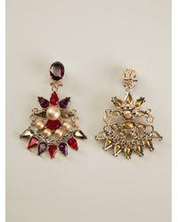 Anton Heunis - Red Crystal Embellished Earrings - Lyst