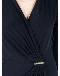 Michael Kors Black Gathered Body Dress