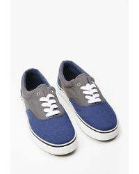 Forever 21 - Blue Men Colorblock Canvas Sneakers - Lyst