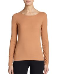 Wolford - Natural Pure Long-sleeve Tee - Lyst
