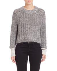 Rag & Bone | Gray Makenna Wool-blend Sweater | Lyst