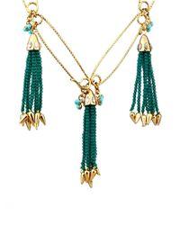 Lulu Frost - Green Nomadic Tassel Necklace - Lyst