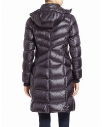 Bernardo | Blue Convertible Coyote Fur-trimmed Puffer Coat | Lyst