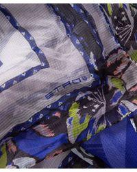 Etro - Blue Scialle Silk-blend Scarf - Lyst