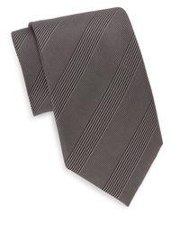 Saks Fifth Avenue - Gray Mosaic Silk Tie for Men - Lyst
