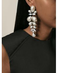 Ermanno Scervino - White Pearl Clip On Earrings - Lyst