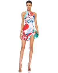 Nicholas | Multicolor Collage Silk Wrap Dress in Floral Multi | Lyst