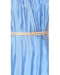Nina Ricci - Blue Pleated Dress - Lyst