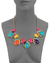 kate spade new york - Multicolor Cabochon Mosaic Collar Necklace - Lyst