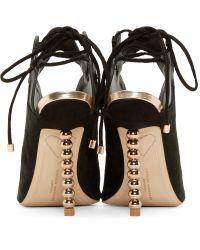 Sophia Webster - Black And Rose Gold Mila Peep Toe Heels - Lyst