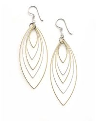 Lord & Taylor | Metallic Sterling Silver Orbital Wire Earrings | Lyst