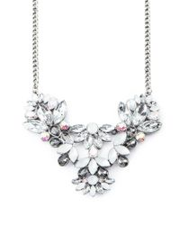 Forever 21 - Metallic Petal Statement Necklace - Lyst