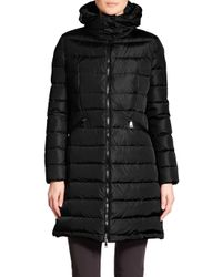 Moncler | Black Flammette Puffer Jacket | Lyst