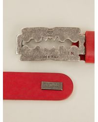 Philipp Plein - Red Razor Detail Bracelet for Men - Lyst