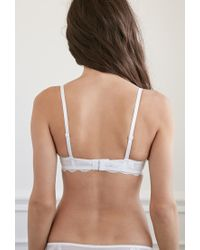 Forever 21 - White Cutout Embroidered Lace Bra - Lyst