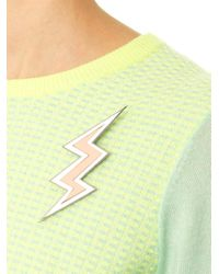 Yazbukey - Metallic Lightning Brooch - Lyst