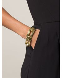 Vaubel - Metallic Chunky Open Rectangular Bracelet - Lyst