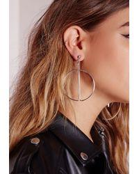 Missguided - Metallic Lunar Earrings Silver - Lyst