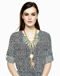Panacea | Metallic Golden Tassel Fringe Necklace | Lyst