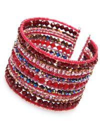 Nakamol - Multicolor Strata Cuff-garnet - Lyst