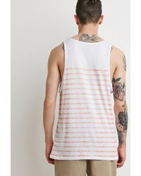Forever 21 | White Faded-stripe Tank for Men | Lyst