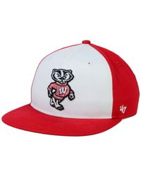 47 Brand - Red Kids' Wisconsin Badgers Snapback Cap - Lyst