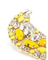 Shourouk   Yellow 'banana' Clip-on Earrings   Lyst