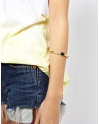 ASOS - Metallic Asos Opaque Mid Arm Cuff Bracelet - Lyst