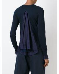 Sacai Luck - Blue Pleated Back Cardigan - Lyst