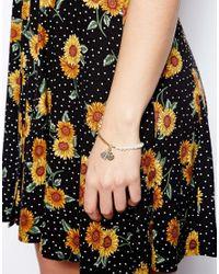 ASOS - Metallic Exclusive Faux Pearl Tassel Bracelet - Lyst