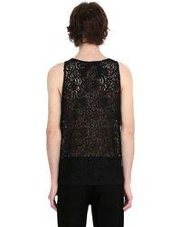 N°21 - Black Cotton Lace Tank Top for Men - Lyst