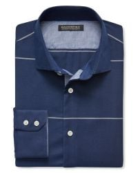 Banana Republic | Blue Tailored Slim-fit Non-iron Micro-stripe Shirt for Men | Lyst
