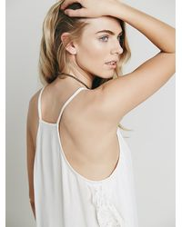 Free People | White Intimately Womens Lace And Petals Cami | Lyst