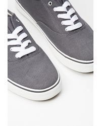 Forever 21 - Gray Men Classic Canvas Plimsolls for Men - Lyst