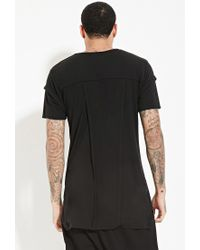 Forever 21 | Black Unknown Elongated Tee for Men | Lyst