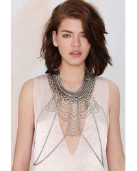 Nasty Gal | Metallic Laka Collar Body Chain | Lyst