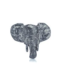 Dominique Lucas - Gray Elephant Ring Oxidised - Lyst