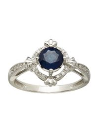 Lord & Taylor | Blue 14kt. White Gold Sapphire And Diamond Ring | Lyst