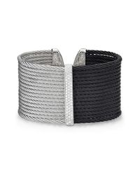 Alor | Black Two Tone Diamond Cuff | Lyst