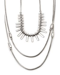 Forever 21 - Metallic Geo Necklace Set - Lyst