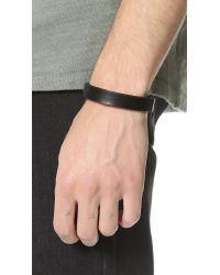 Giles & Brother - Black Leather Visor Cuff for Men - Lyst