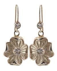 Slane | Metallic Dogwood Diamond Flower Dangle Earrings | Lyst