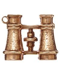 Annina Vogel - Metallic Vintage Gold Binoculars Charm - Lyst