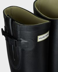 HUNTER | Black Women's Balmoral Equestrian Adjustable Neoprene Wellington Boots | Lyst