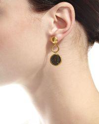 Gurhan - Metallic Antiquities Spell Byzantine Drop Earrings - Lyst