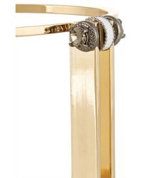 J.Crew - Metallic Gold-Plated Cubic Zirconia Cuff - Lyst