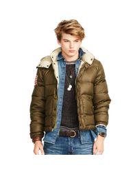 Denim & Supply Ralph Lauren | Green Quilted Ripstop Down Jacket for Men | Lyst