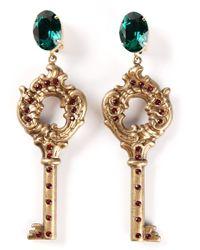 Dolce & Gabbana | Metallic Key Earrings | Lyst